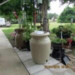 Unpacking new rain barrel