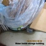 Water inside storage building (2)