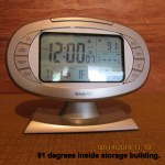 Temperature inside storage