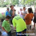 Enjoying the lemonade