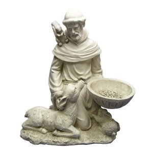 Saint Francis on his knees