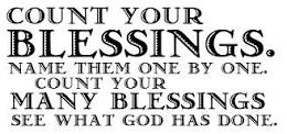 Count you blessings
