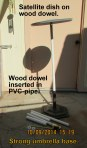 Dowel inside PVC-pipe