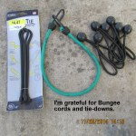 Gratefully, bungee cords
