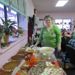 Mary at dessert table