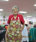 Lorraine in her fancy apron