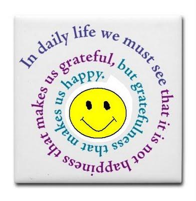 Smiley face gratitude