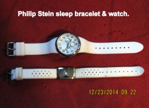 Philip Stein watch and sleep bracelet