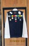 Denim vest with badges (back)