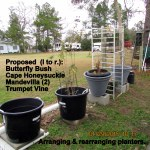 Arranging planters