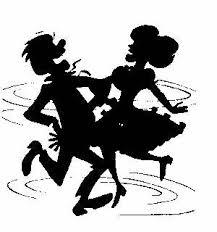 Square dancing cartoon