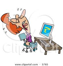Old lady with computer