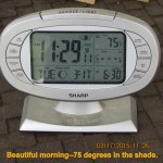 Beautiful morning time and temperature