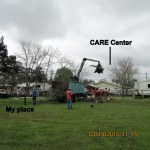My yard and CARE Center