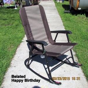 Yard rocking chair