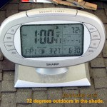 1 o'clock time and temperature