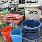 Cluttered patio