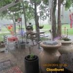 Rain on the rain barrel