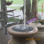 More rain on rain barrel