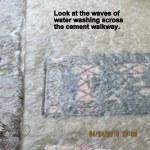 Water across the mat