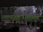 Rain and lightening
