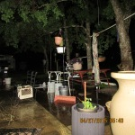 Rain water in yard