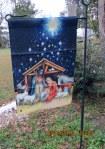 Nativity garden flag
