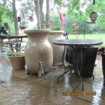 Around the rain barrels