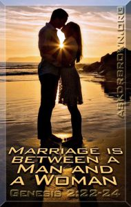 Marriage between one man and one woman