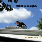 Ronnie on the roof