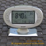 Outdoor temp at eight-forty