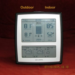 Indoor-outdoor temperature