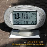 Outdoor temp at ten-eleven