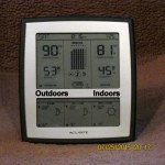 Indoor outdoor temperature at eight-fifteen