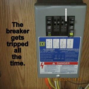 Tripped breaker