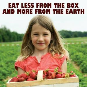 Eat less from the box picture