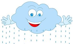 weather caartoon rain cloud