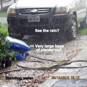 Very hard rain