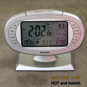 Hot and humid at two
