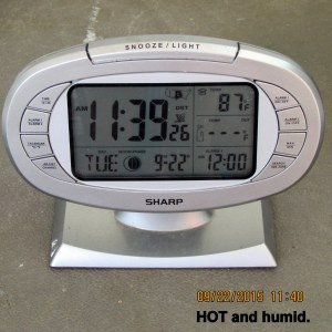Hot and humid at eleven-thirty