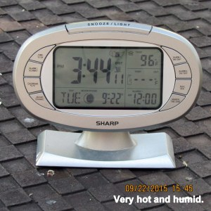 Hot and humid at three-forty