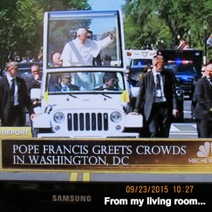 Pope Francis in Washington DC