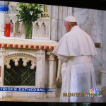 Pope Francis at the alter