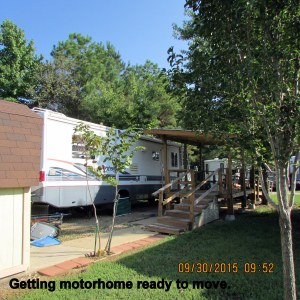 Motorhome ready to move