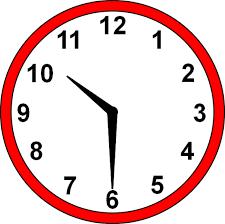 Clock ten-thirty