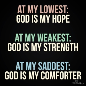 God is my hope poster