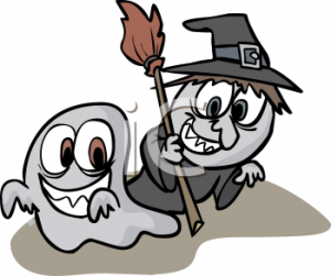 Halloween ghost and goblin (cute)