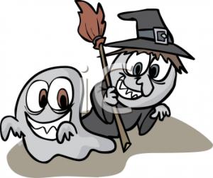 Halloween ghost and goblin (cute)