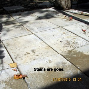 Stains are gone