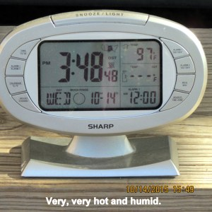 Temperature at three-forty-eight